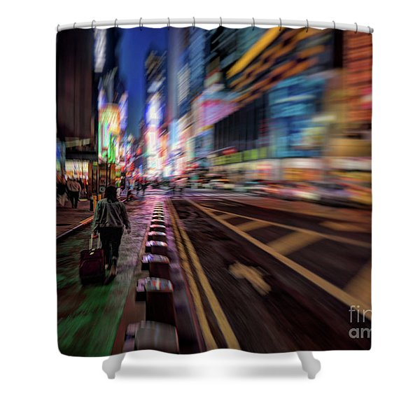 Alone In New York City 2 Shower Curtain