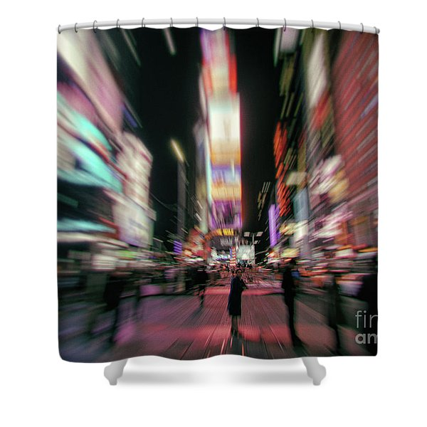 Alone In New York City 3 Shower Curtain
