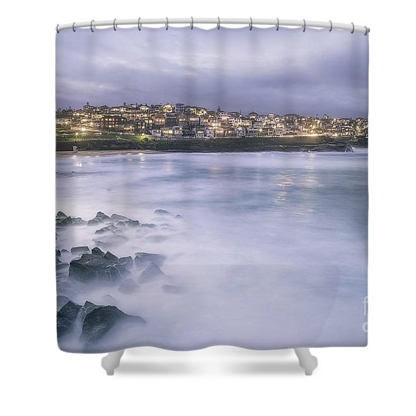 Along The Crystal Shore  Shower Curtain