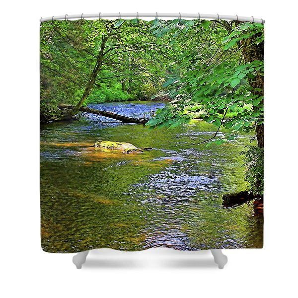 Along The Cullasaja River Shower Curtain