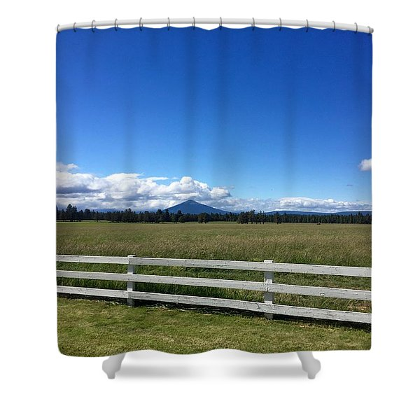 Along The Fence Line Shower Curtain