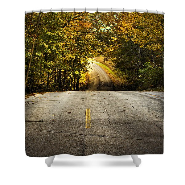 Along The La Aqua Na Circle Road Shower Curtain