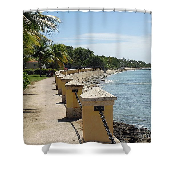Along The Pier Shower Curtain