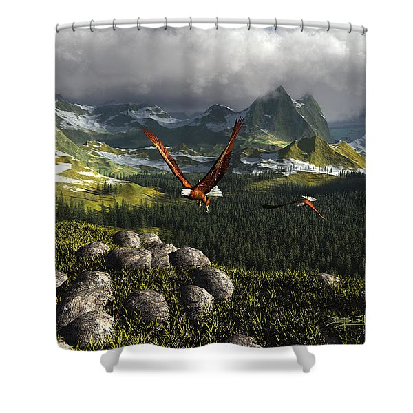Along The Pinnacles Of Time Shower Curtain