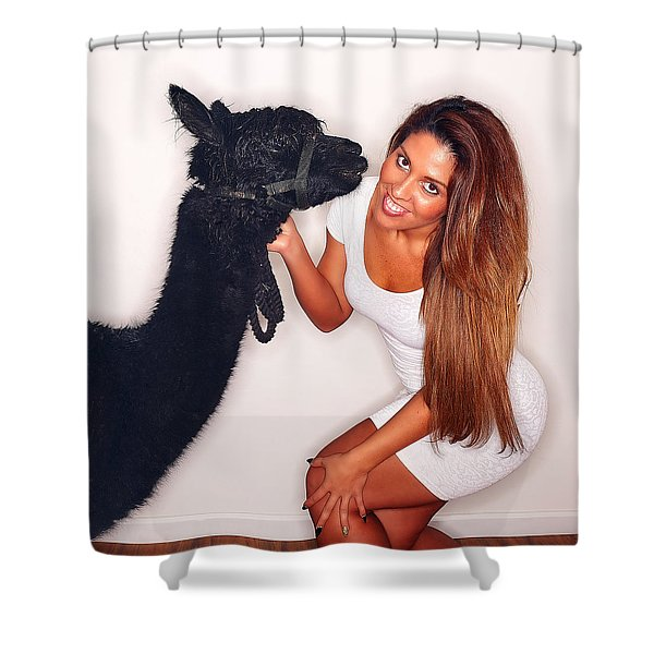 Alpaca Emily And Breanna Shower Curtain