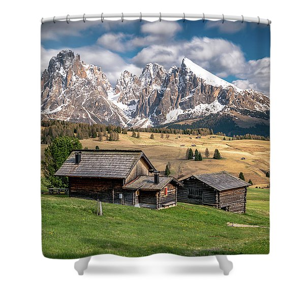Alpe Di Suisi Cabin Shower Curtain