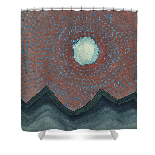 Alpine Resonance Original Painting Shower Curtain