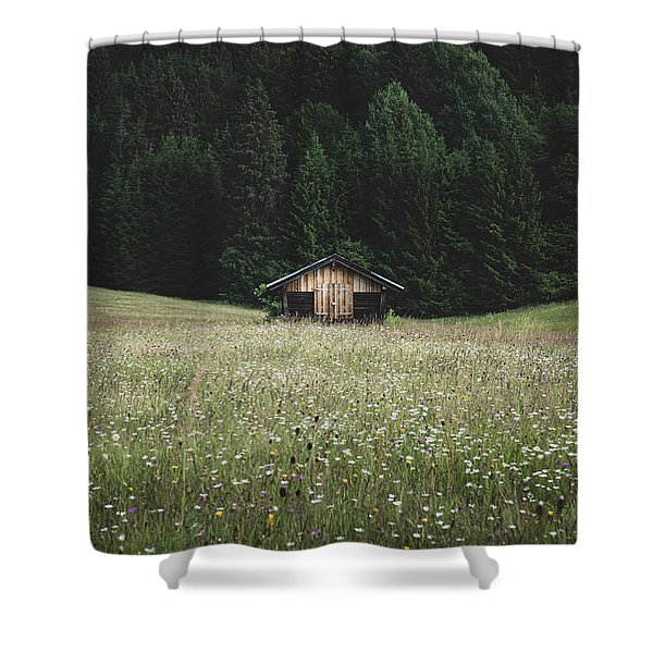 Alpine Symmetry Shower Curtain