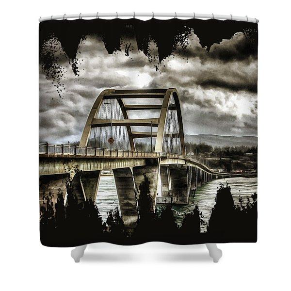 Alsea Bay Bridge Shower Curtain