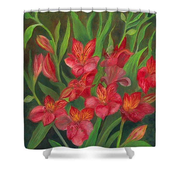 Alstroemeria Shower Curtain