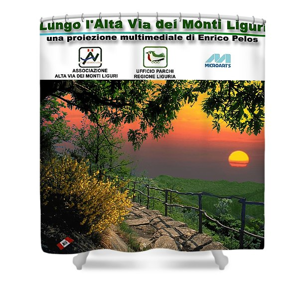 Alta Via Dei Monti Liguri Cd Case Label Shower Curtain