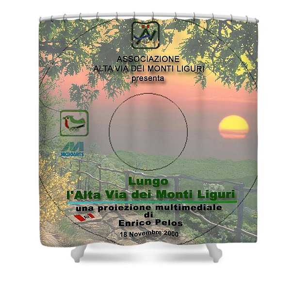 Alta Via Dei Monti Liguri Cd Cover Shower Curtain