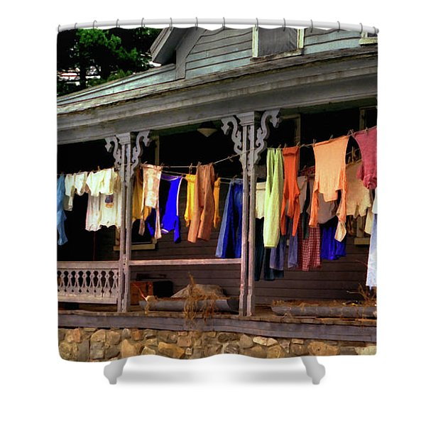 Shower Curtain featuring the photograph Alton Washday Revisited by Wayne King