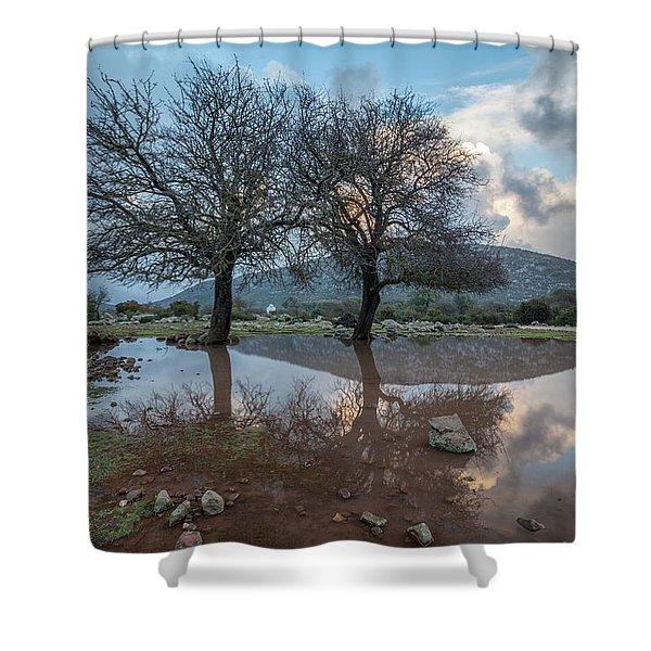 Altopiano Di Golgo Shower Curtain