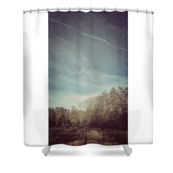 Am Himmel Die Wolken  #wolken #himmel Shower Curtain