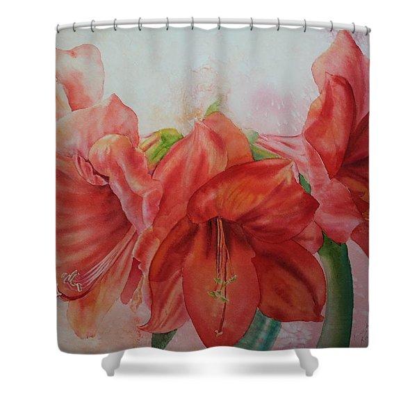 Amarylis Shower Curtain