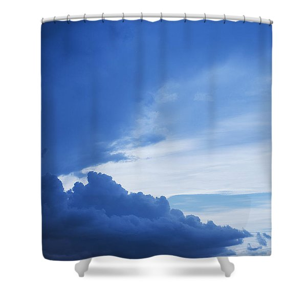 Amazing Blue Sky Vertical Shower Curtain