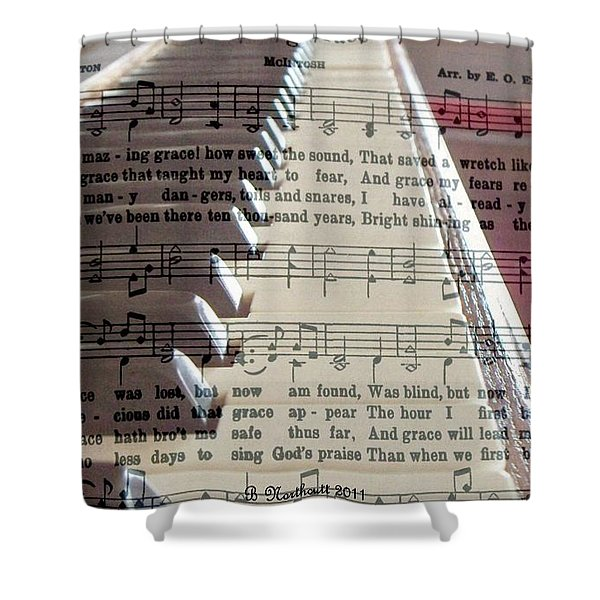 Amazing Grace Shower Curtain by Betty Northcutt