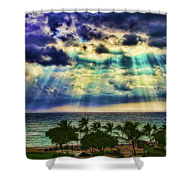 Amazing Grace - Sun Rays Before Sunset By Diana Sainz Shower Curtain