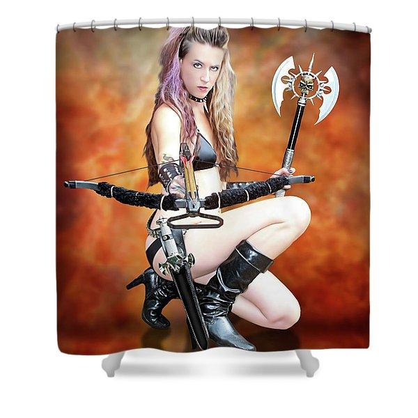 Amazon Warrior Shower Curtain