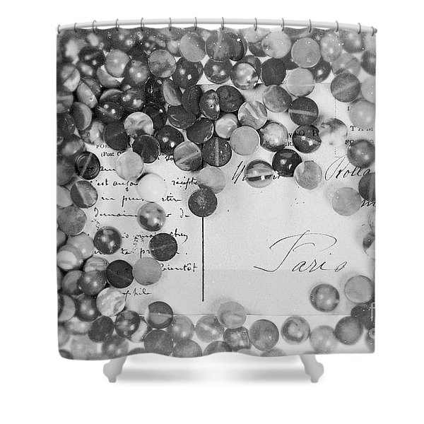 Amber #0502 Bw Shower Curtain
