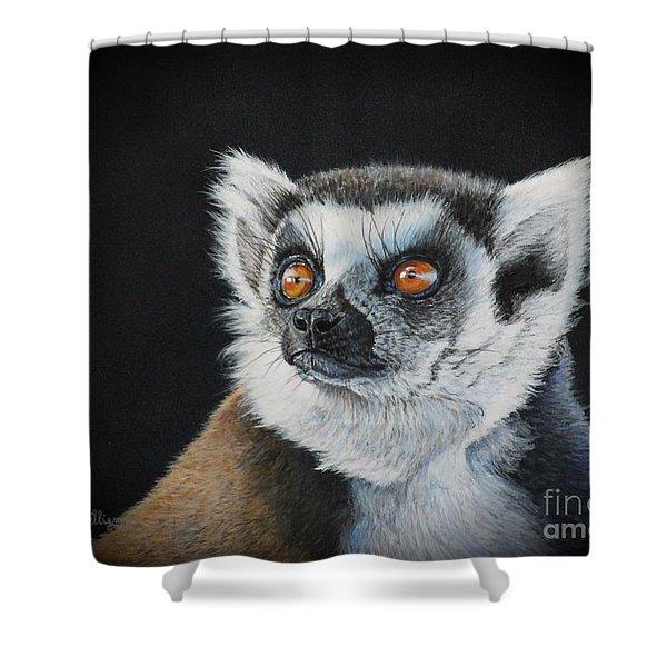 Amber Eyes......lemur Shower Curtain