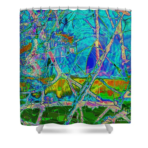 Ambient Blues Shower Curtain