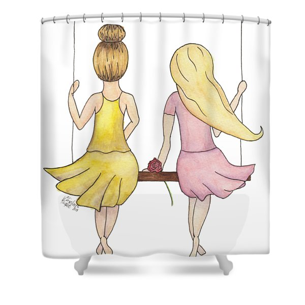 Amelia And Lillian Shower Curtain