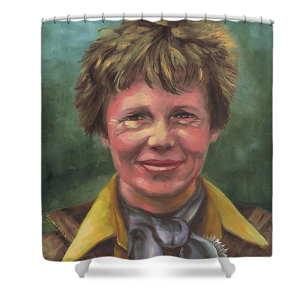 Amelia Earhart Shower Curtain