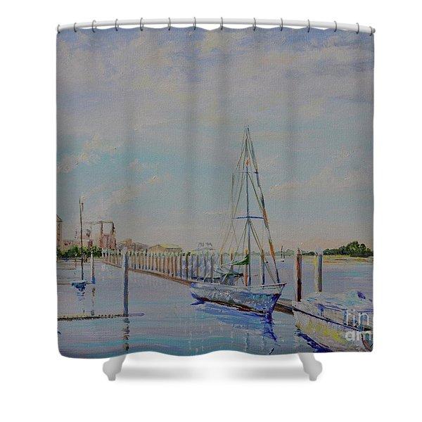 Amelia Island Port Shower Curtain