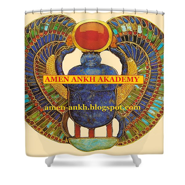 Amen Ankh Akademy Shower Curtain
