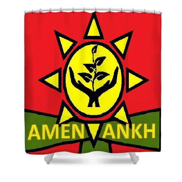 Amen Ankh Sunset Shower Curtain