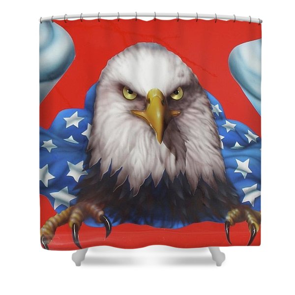 America Patriot  Shower Curtain