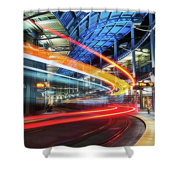 America Plaza Station Shower Curtain