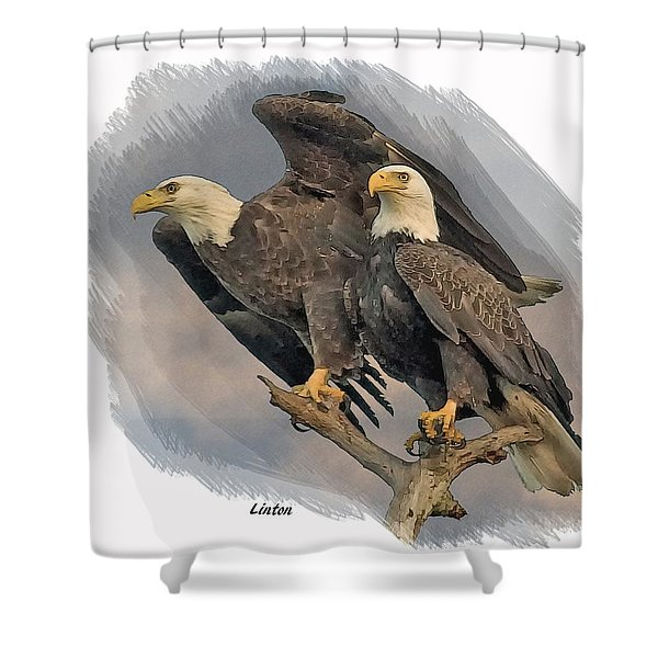American Bald Eagle Pair Shower Curtain