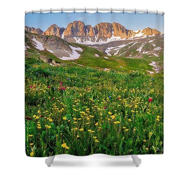 American Basin Square Format Shower Curtain