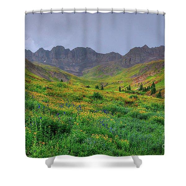 American Basin Summer Storm Shower Curtain
