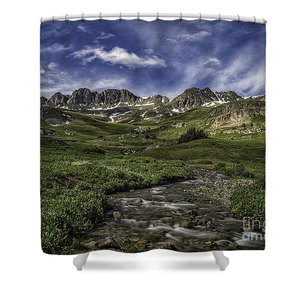American Basin Trail Head Shower Curtain