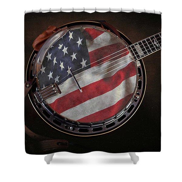 American Bluegrass Music Shower Curtain
