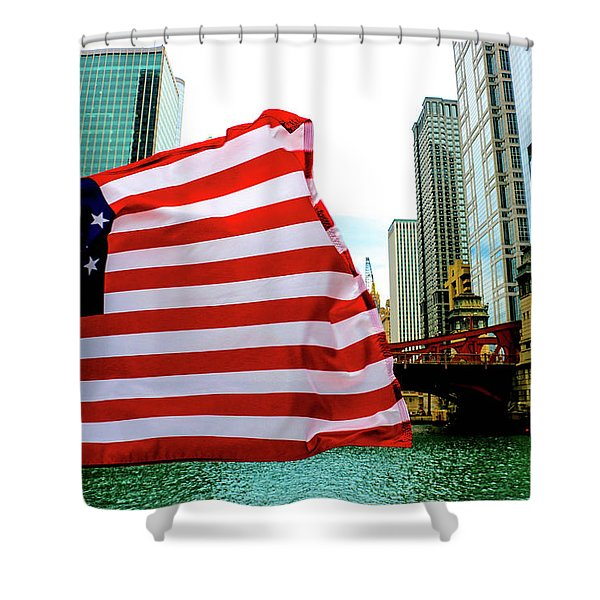 American Chi Shower Curtain