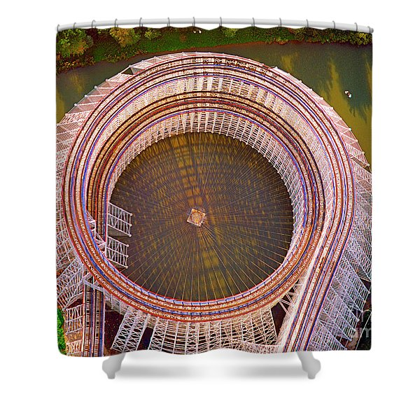American Eagle Roller Coaster  Shower Curtain
