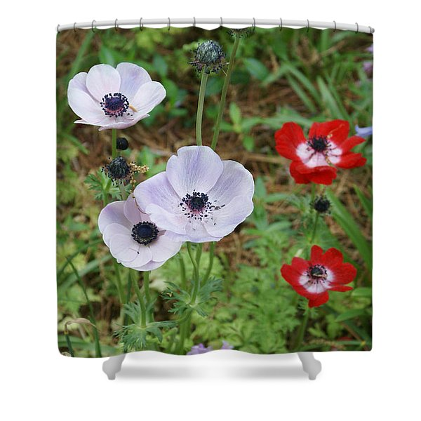 American Flowers Shower Curtain