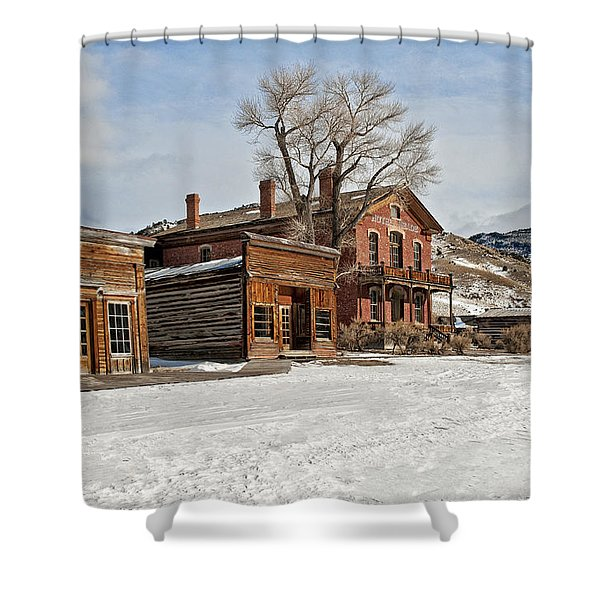 American Ghost Town Shower Curtain