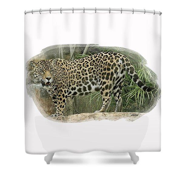 American Jaguar 18 Shower Curtain