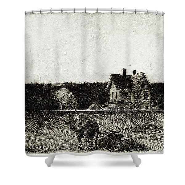 American Landscape Shower Curtain