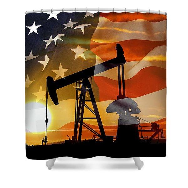 American Power Shower Curtain