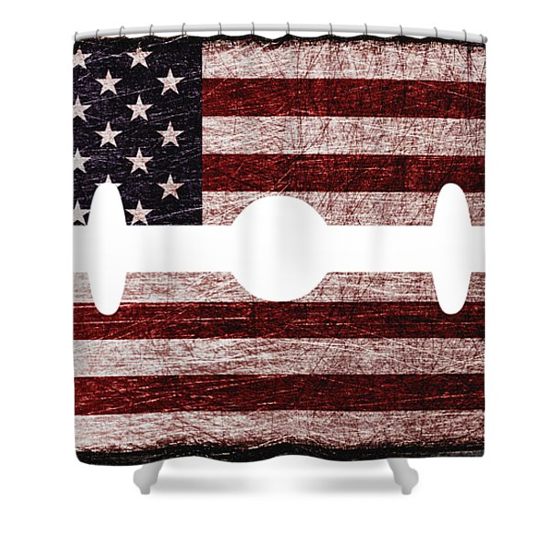 American Razor Shower Curtain