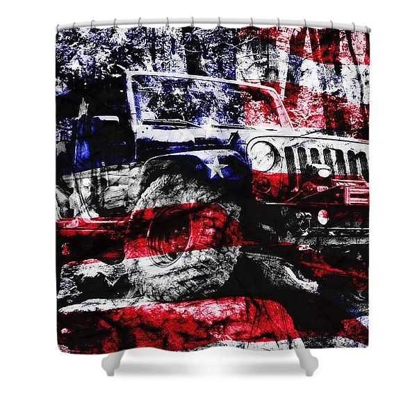 American Rock Crawler Shower Curtain