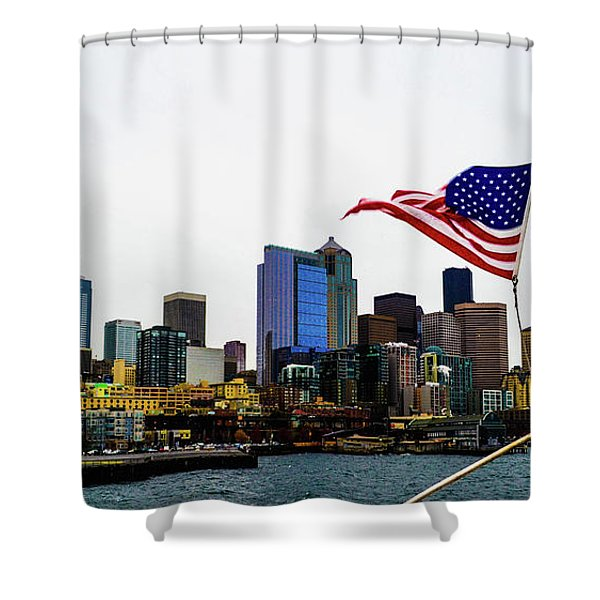 American Seattle Ic Shower Curtain