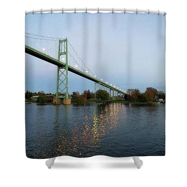 American Span Thousand Islands Bridge Shower Curtain